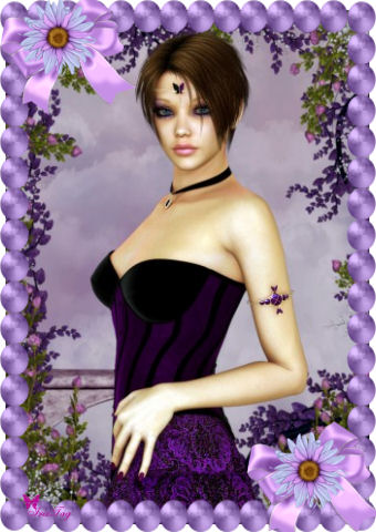 Gothic glitter krabbels