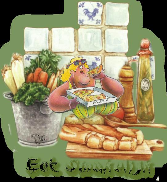 Eet smakelijk krabbels