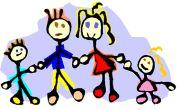 Familie en gezin krabbels